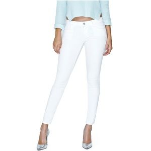 Guess White Power Skinny Low Rise Jeans